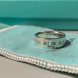 Sterling silver 1837 ring with diamonds